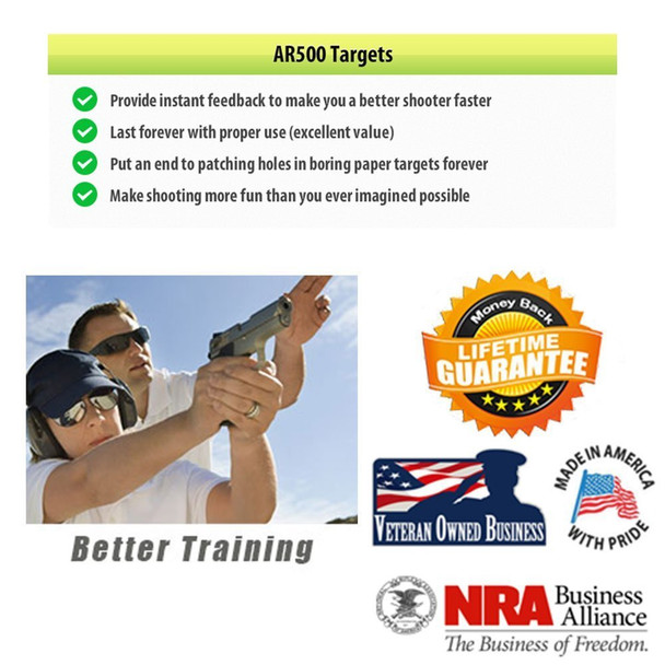 """AR500 Steel Targets  3/8"""" x 4"""" x 4"""" Square For precision practice"""