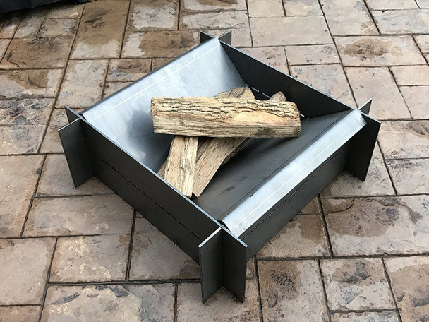 """Firetrough Inferno 40""""x40"""" Steel Fire Pit - Made in USA"""