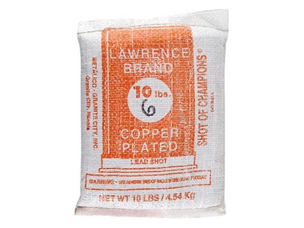 Lawrence Copper Plated Lead Shot #6 10 lb Bag