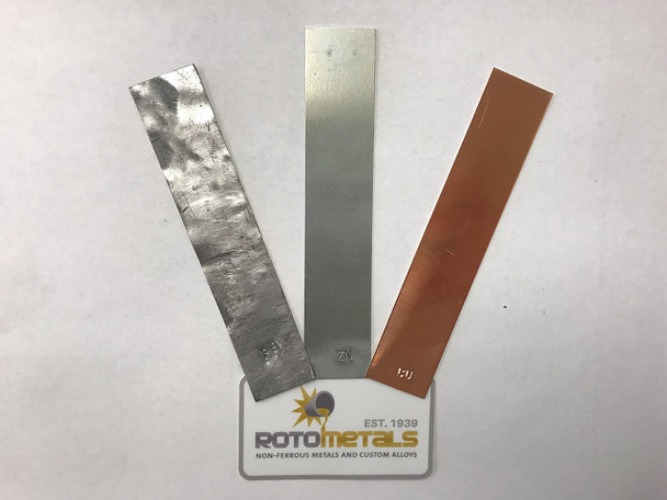 "Electrode Strip Sample Pack - Lead, Zinc, & Copper - 1""x 5"""