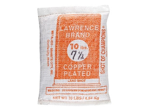 Lawrence Copper Plated Lead Shot #7.5 10 lb Bag