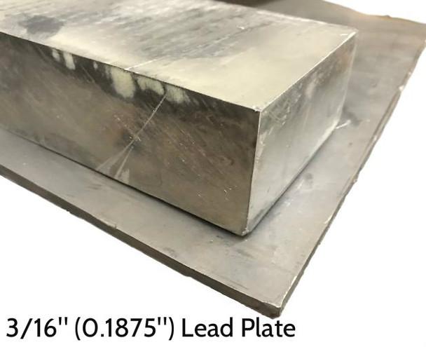 "Lead Plate - 3/16"" x 1' x 1'"