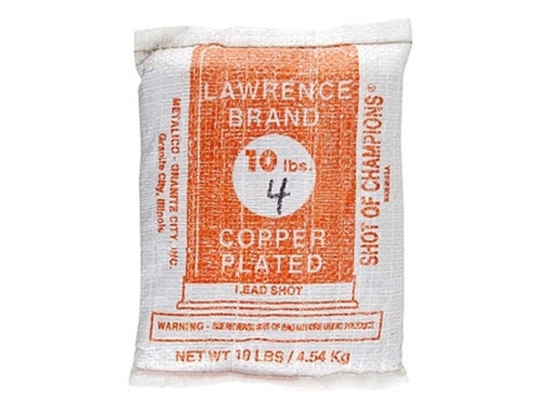 Lawrence Copper Plated Lead Shot 10 lb Bag