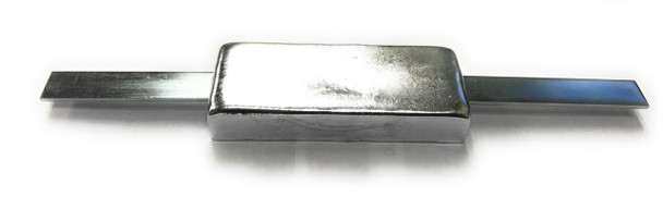 """ZSS-2.8 Zinc Anode 1"""" x 2"""" x 5""""~   with  12"""" Strap - Rope Guard Anode"""