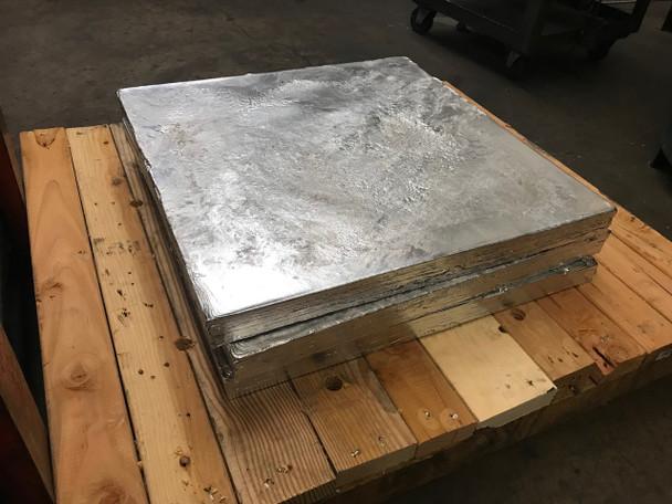 "Zinc Cast Plate  - 1.875"" x 25"" x 25"""