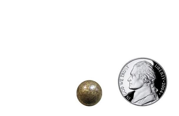 "OG912 - Old Gold Fleck High Dome  Head Size:7/16"" Nail Length:1/2"" - 1000 per box"