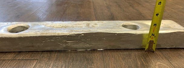 "AHC-20 Aluminum Anode 2"" x 4"" x 24"" with 2 holes 12"" CTC"