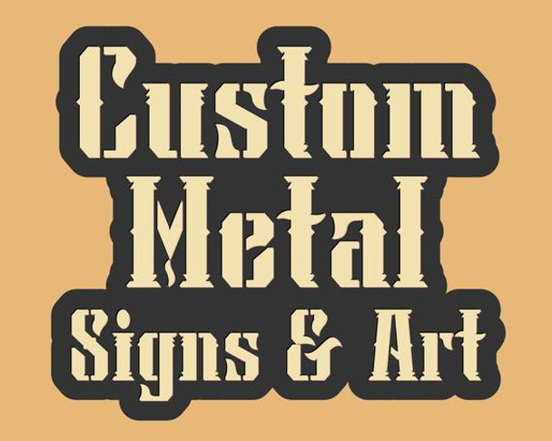Custom Plasma Cut Logo Signs