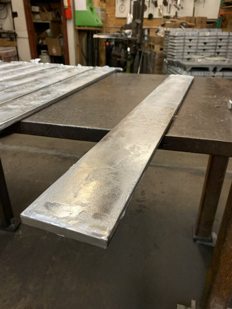 "Zinc Cast Flat Bar 1/2"" x 4"" x 36"""