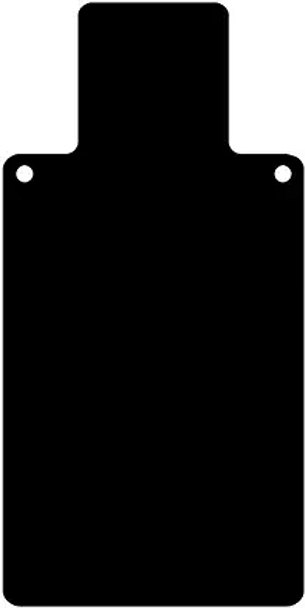 """High Caliber AR500 1/4"""" Thick Targets - for Precision Practice Human Body Shape(Silhouette0, 12x20)"""