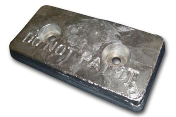 "AHC-10 Aluminum Anode 1.25"" x 6"" x 12"""