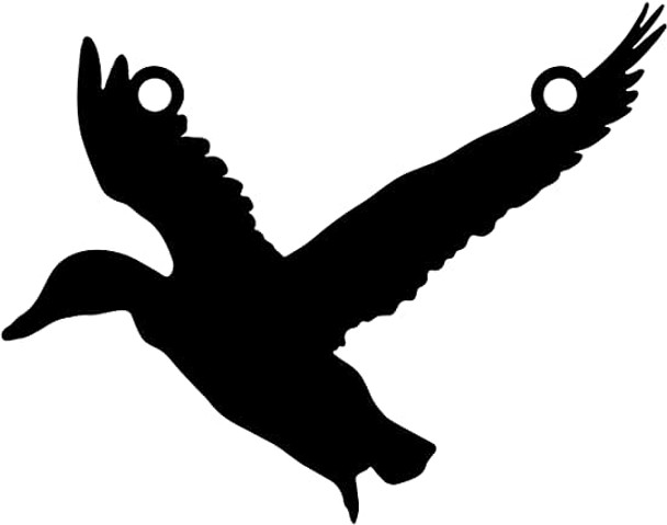"""High Caliber AR500 3/8"""" Thick Animal Silhouette Targets - for Precision Practice Gadwell Mallard(Duck #2, 09x12)"""