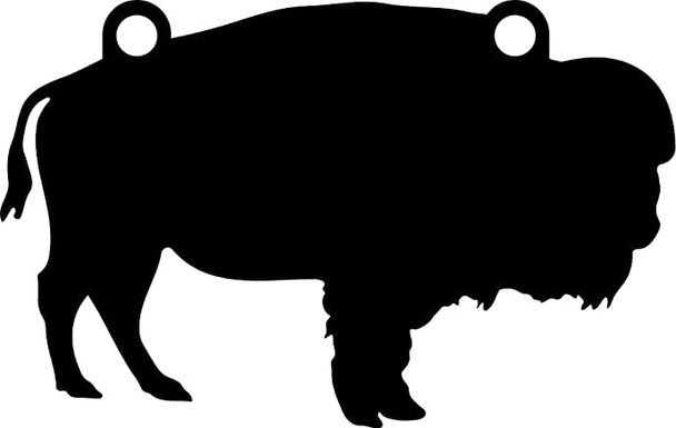 """High Caliber AR500 3/8"""" Thick Animal Silhouette Targets - for Precision Practice Buffalo Water Bison(Buffalo #1, 13x20)"""
