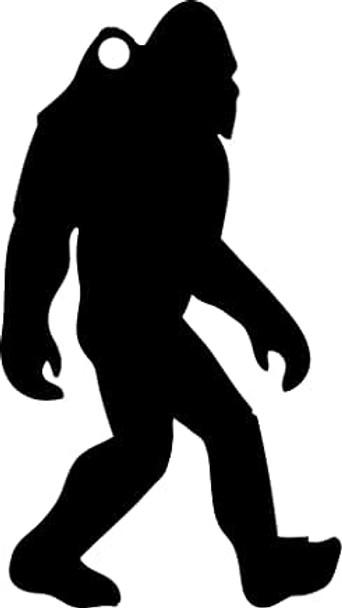 "High Caliber AR500 3/8"" Thick Animal Silhouette Targets - for Precision Practice Bigfoot Sasquatch Yeti(Bigfoot #1, 12x21)"