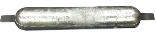 "AHS-20-A  Aluminum Anode 2.25"" x 4.5"" x 24"""