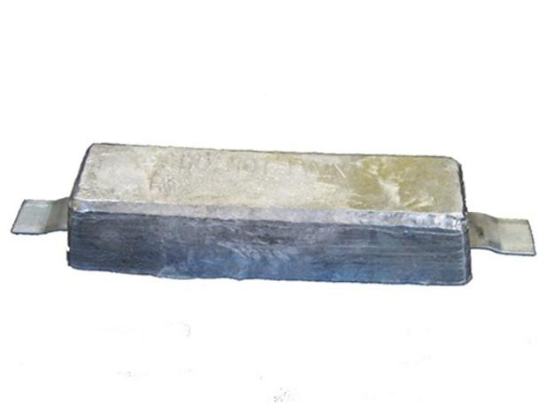 """ASS-10 Aluminum Anode 2.75"""" x 3.5"""" x 12"""""""