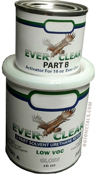 Sealer Ever Clear for Zinc and Metal Countertops 2 Parts A / B - For Horizontal Surfaces