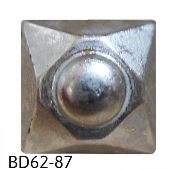 "BD62 - Square Nail/Clavos Head with Circular Detail - Head Size: 9/16"" Nail Length: 5/8"" - 20/Box"