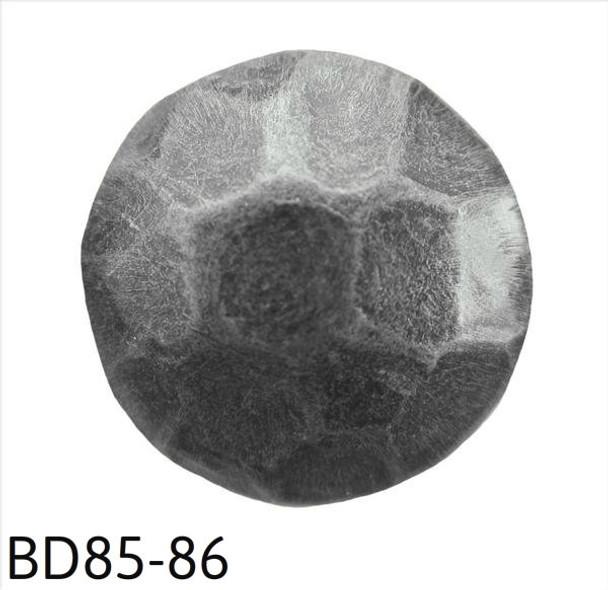 """BD85-86 - Hammered Pewter Circular Nail/Clavos Head - Head Size: 7/16"""" Nail Length: 1/2"""" - 100/box"""