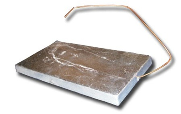 "Zinc Anode - 5"" x 9"" Hang Overboard w/ Copper Wire"