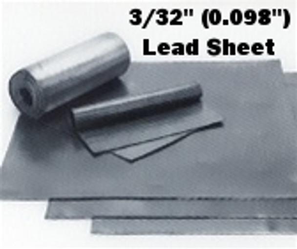 """(6#) Sheet Lead 3/32"""" 1' x 4'"""