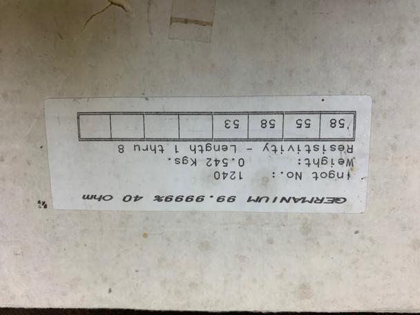 Germanium Ingot  99.99% Pure 542 grams