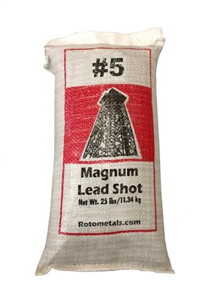 "Magnum Lead Shot #5 .12"" bag/25 lbs."