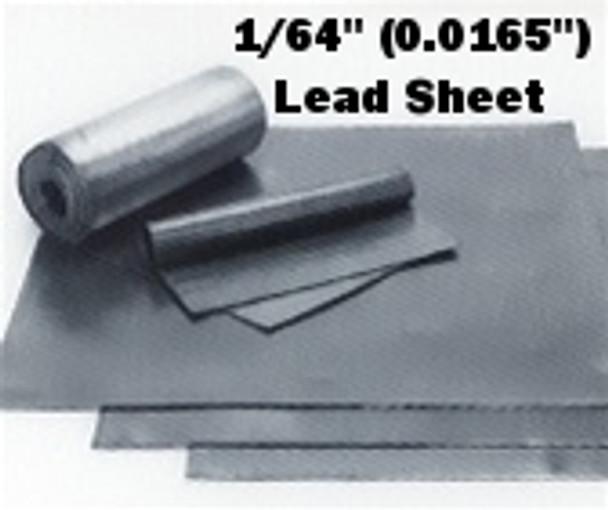"""(1#) Sheet Lead 1/64""""  1' x 2'"""