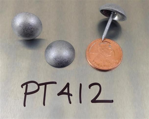"PT412 - Pewter High Dome Nail/Clavos Head - Head Size: 5/8"" Nail Length: 5/8"" - 50 per box"