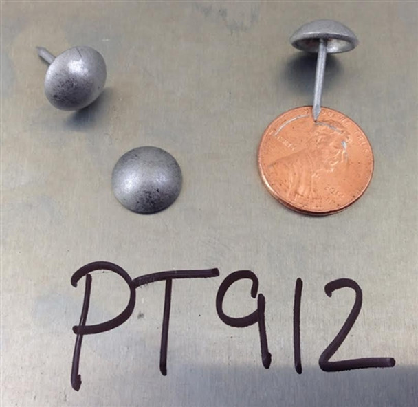 """PT912 - Pewter High Dome Nail/Clavos Head - Head Size: 7/16"""" Nail Length: 1/2"""" - 250/Box"""