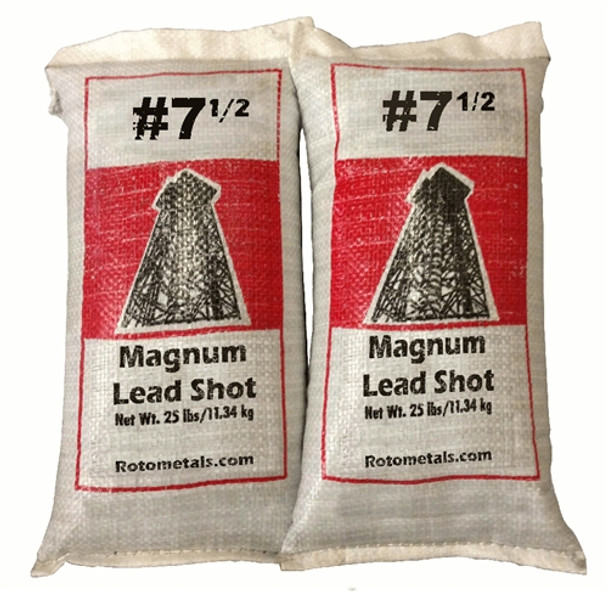 Magnum Lead Shot #7.5 50 lbs - Freight Included