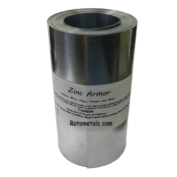 "ZincArmor 6"" Zinc Strip 50 ft Prevent Algae, Moss, Fungus & Mildew"