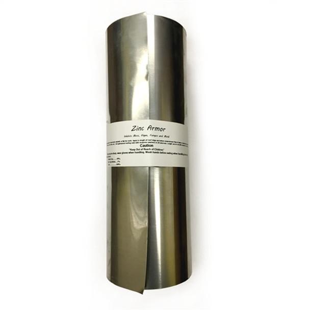 "ZincArmor  Heavy Duty 8"" Zinc Strip 10 ft Prevent Algae, Moss, Fungus & Mildew"
