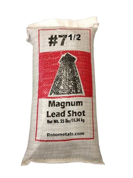 "Magnum Lead Shot #7.5 .095"" bag/25 lbs."