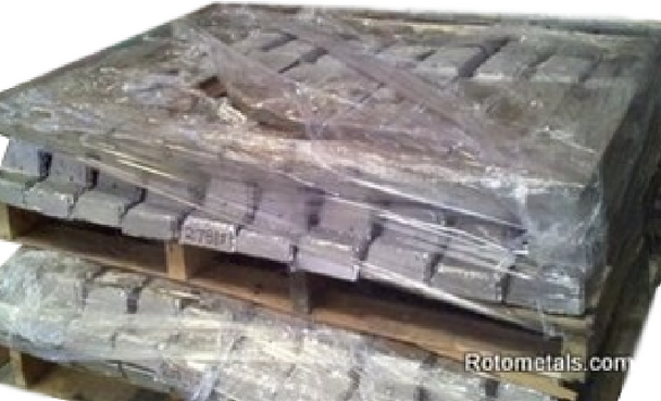 Pallet Antimony Lead Ingots 3-6% SB 1000 Pounds with Freight Included