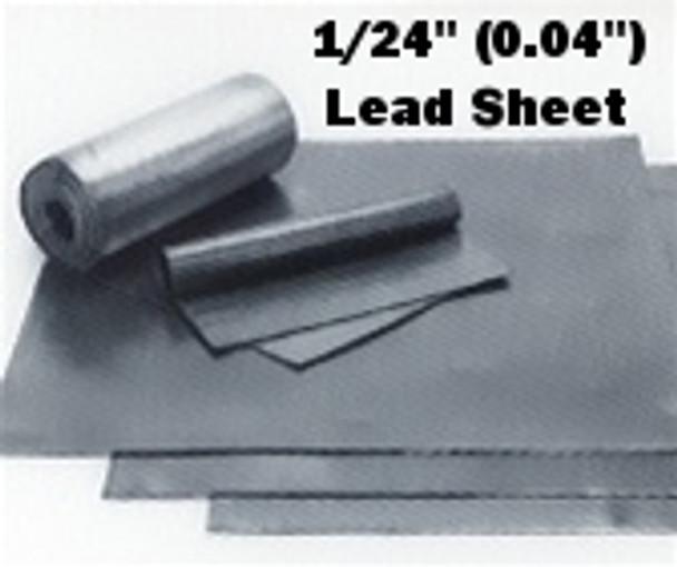 """(2.5#) Sheet Lead 1/24""""  1' x 3'"""