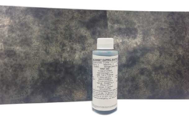 Patina Cupric Sulfate Solution - Gray to Black on Zinc