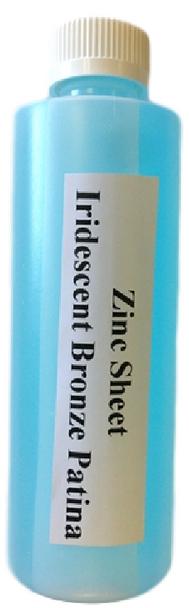 Patina  Iridescent Bronze on Zinc Solution