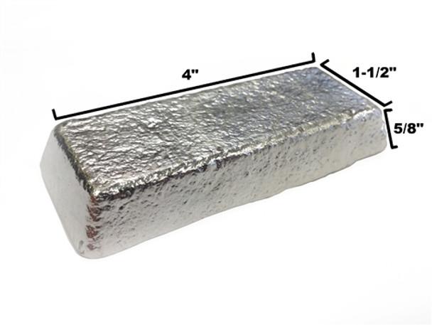 Alloy R98 Pewter Casting Ingot (98%Tin, Bismuth 1.5%, Copper .50%) - 466F - 590F