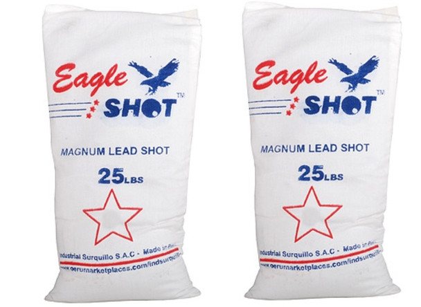 Eagle Magnum Shot Lead (2-25) Bags 50 lbs Size 4-8.5 - Freight Included