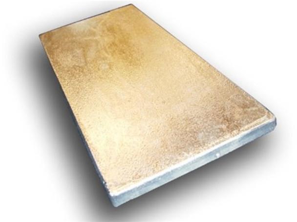 """ZPN-20 Zinc Cast Plate - 1"""" x 6"""" x 12"""""""