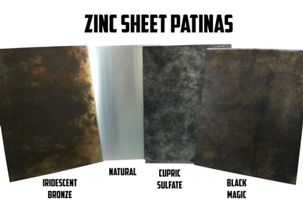 "Zinc Sheet Sample for Counter Tops, Range Hoods Tables - 8"" x 11"""