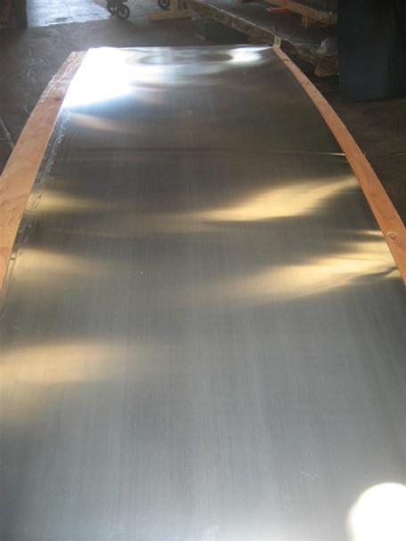 """Zinc Sheet -.027"""" (22 Gauge) x 44.4"""" x 120"""" for Countertops, Range Hoods"""