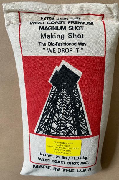 West Coast Magnum Lead Shot 25 lbs Bag