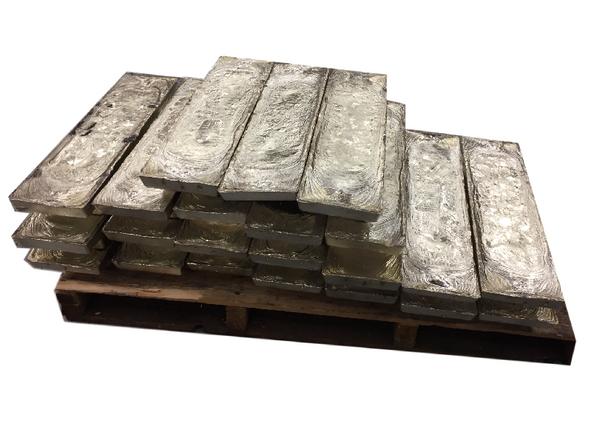 Pallet Tin Virgin Ingots 99.9%  1000 Pounds $10.99 per pound