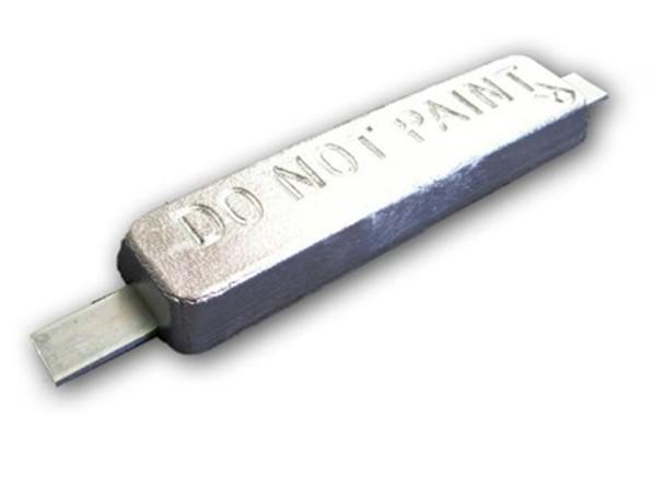 """ZSS-12 Zinc Anode 1.25"""" x 3"""" x 12"""" (16"""" Aluminum Strap)"""