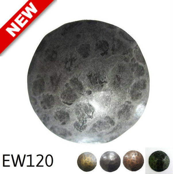 "EW120 - Carved Texture Circular Nail/Clavos Head - Head Size: 2"" Nail Length: 4/5"" - 10 to box"