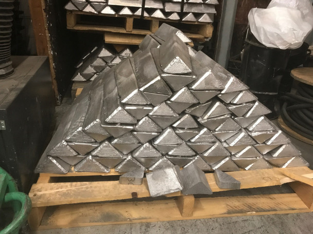 Pallet Recycled Lead Ingots  1000 Pounds $1.49 per pound Freight included