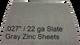 ".027""  / 22 ga Slate Gray Pre Patina Zinc Sheets"