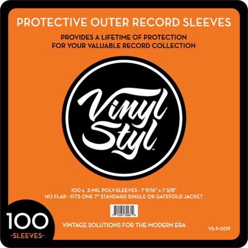 """Accessories - Vinyl Styl 100 Poly Sleeves 7"""""""